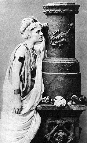 Photograph of Jane Harrison as Alcestis in the 1887 Oxford production