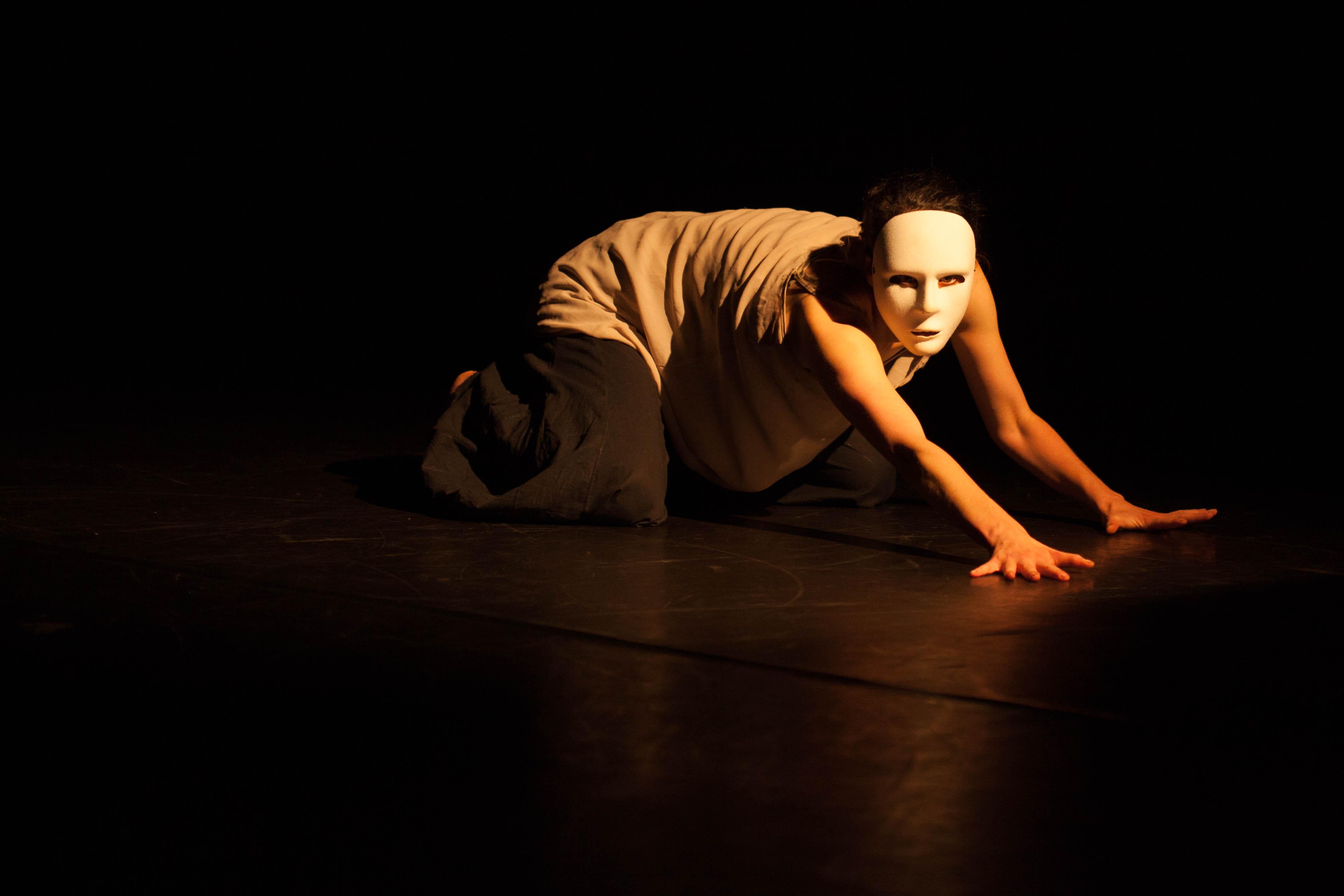 Dancer wearing mask