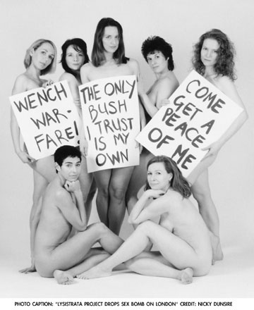 Publicity image for The Lysistrata Project in London