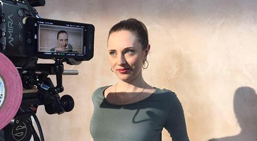 Photograph of Máirín O'Hagan, links to blog post