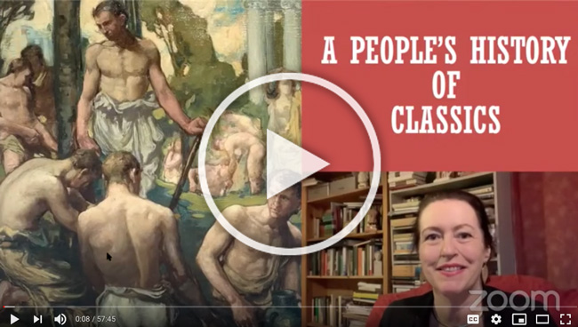 Recording of Edith Hall and Henry Stead 2020 APGRD public lecture; links to YouTube