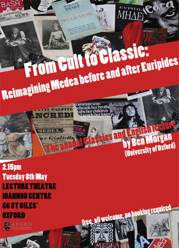 Poster for 2018 Classics and English lecture, by Ben Morgan