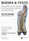 Poster for Ruth Webb's 2016 lecture at the APGRD