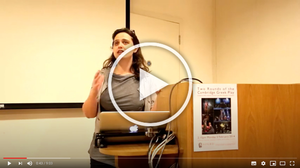 Still of Helen Eastman's 2914 lecture, links to YouTube