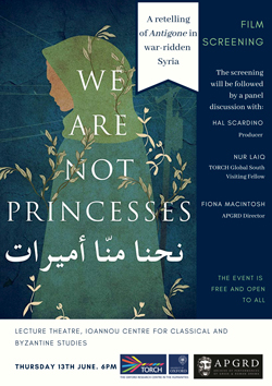 Poster for APGRD 2019 event, We Are Not Princesses