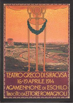 Leopoldo Metlicovitz's poster for Agamemnon 1914 © INDA