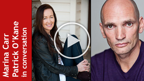 Photographs of Marina Carr and Patrick O'Kane, linking to YouTube