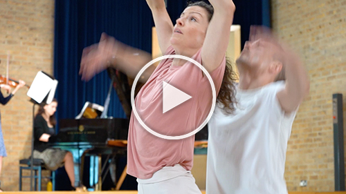 Screenshot from Dancing with Apollo residency documentary by Rocio Chacon, links to YouTube
