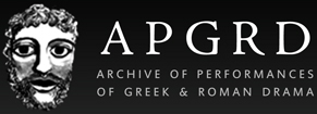 Logo for the Archive of Performances of Greek and Romana Drama, linking to homepage