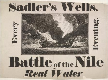 Playbill for Dibdin's 1815 The Battle of the Nile