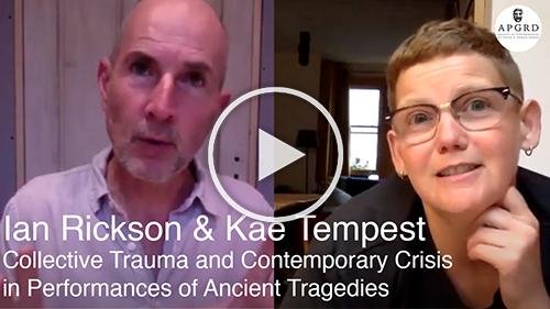 Screenshot of Ian Rickson and Kae Tempest, linking to YouTube