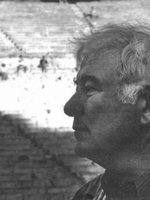 Seamus Heaney at Epidaurus, photo courtesy of Marie Heaney