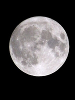 Photograph of a full moon by Mark Harkin