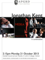Poster for Jonathan Kent's APGRD talk in 2013