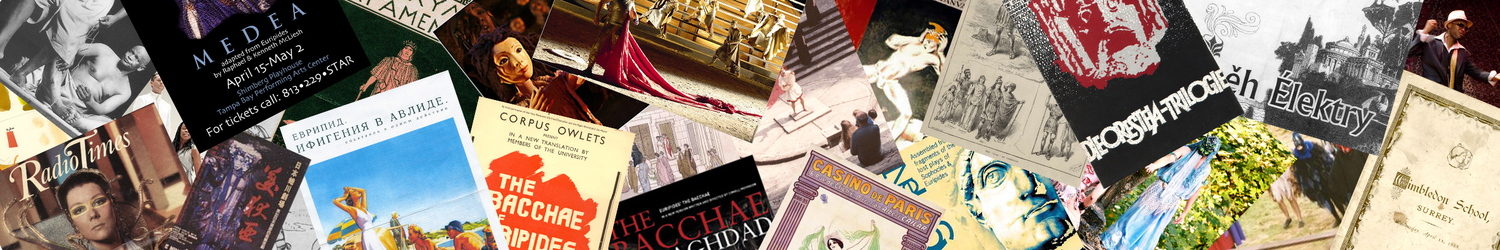 Collage of APGRD archival material relating to modern performances of Greek and Roman dramas