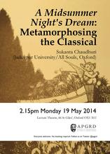 Sukanta Chaudhuri, 'A Midsummer Night's Dream': Metamorphosing the Classical