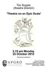Tim Supple, 'Theatre on an Epic Scale'