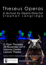 Stephen Langridge, 'Theseus Operas'