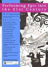 'Performing Epic into the Twenty-First Century' Colloquium