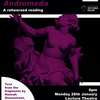 Poster for a rehearsed reading of Andromeda at the APGRD in 2019