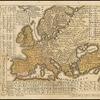 Map of Europe showing language distribution