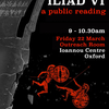 Poster for the Iliad Book 6 global reading event