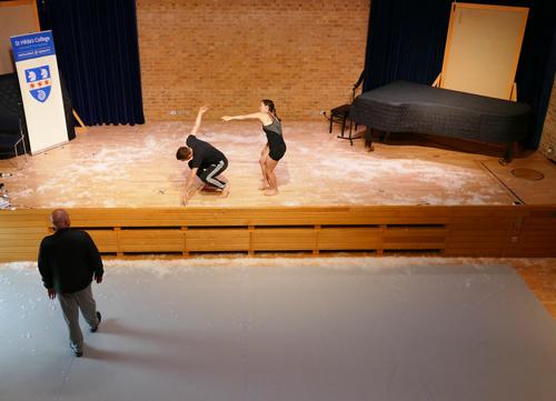 Dancing With Apollo Workshop: Choreographer Kim Brandstrup; dancers Liam Riddick and Laurel Dalley-Smith