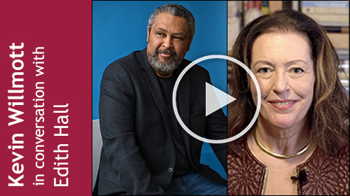 Portrait photos of Kevin Willmott and Edith Hall, linking to YouTube